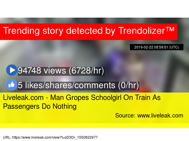 Liveleak.com - Man Gropes Schoolgirl On Train As Passengers Do Nothing -  Stats