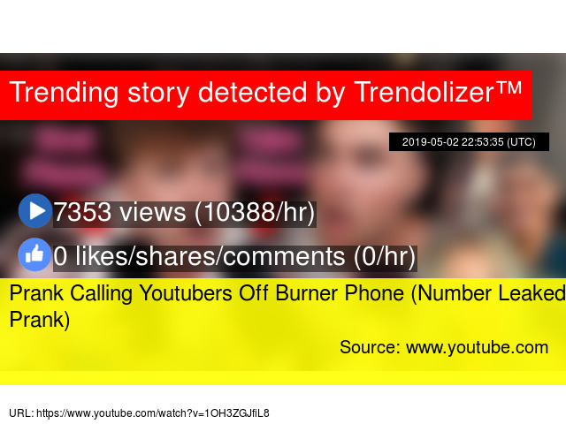 Prank Calling Youtubers Off Burner Phone (Number Leaked Prank)