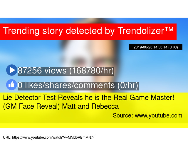 Lie Detector Test Reveals he is the Real Game Master! (GM