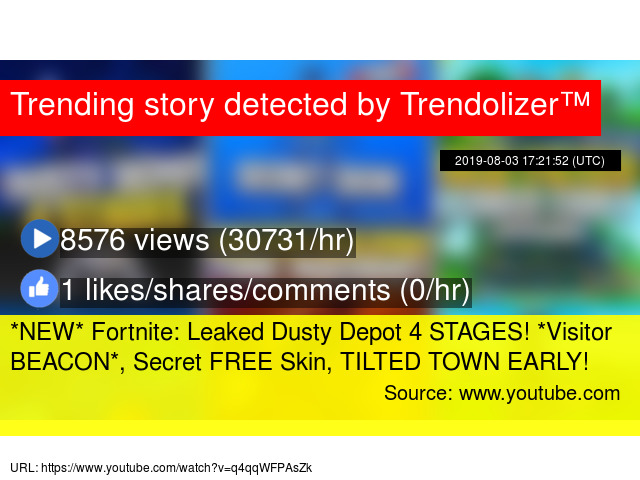 NEW* Fortnite: Leaked Dusty Depot 4 STAGES! *Visitor BEACON*, Secret