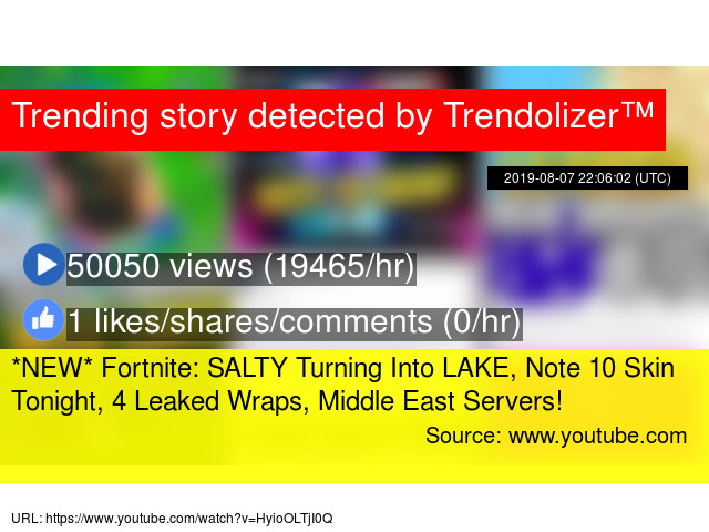 NEW* Fortnite: SALTY Turning Into LAKE, Note 10 Skin Tonight, 4