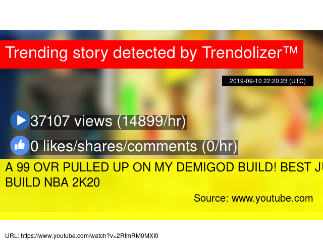 A 99 OVR PULLED UP ON MY DEMIGOD BUILD! BEST JUMPSHOT