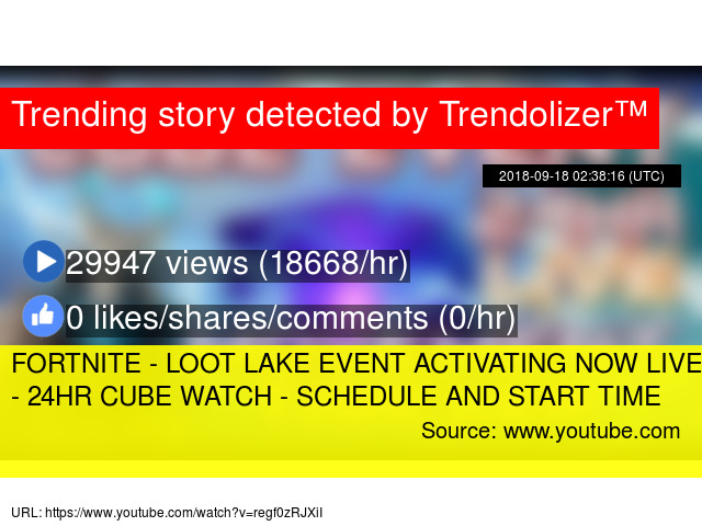 FORTNITE - LOOT LAKE EVENT ACTIVATING NOW LIVE COUNTDOWN