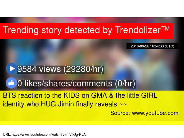 BTS reaction to the KIDS on GMA & the little GIRL identity who HUG
